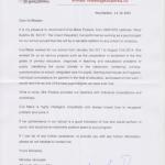 dopis od RNDr. Miroslava Janouška